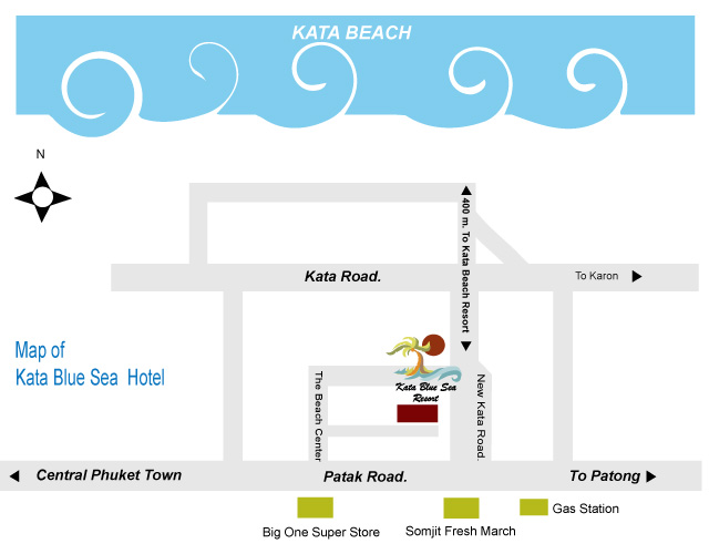 Location Map Kata Blue Sea Resort